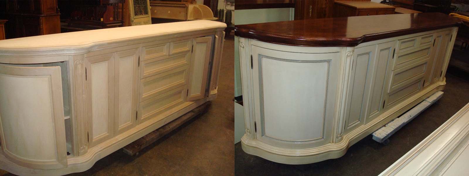 Custom cabinetry refinishing and painting Orange County