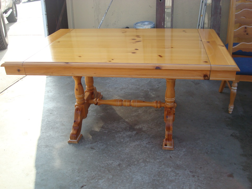 Dining table refinishing before
