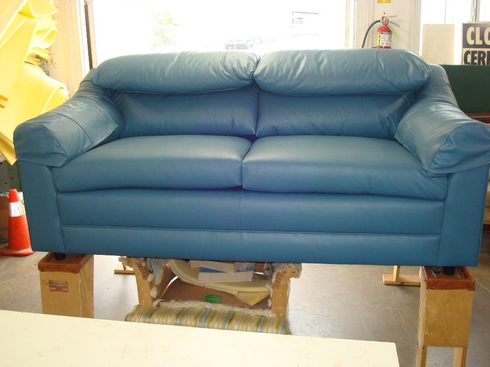 LA custom leather upholstering after