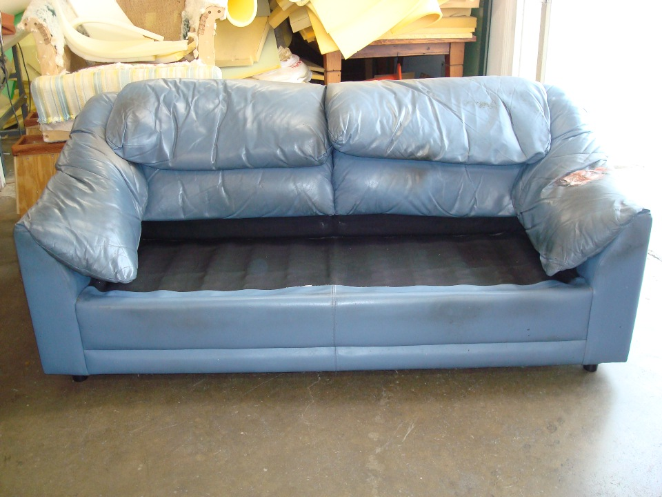 LA custom leather upholstering before