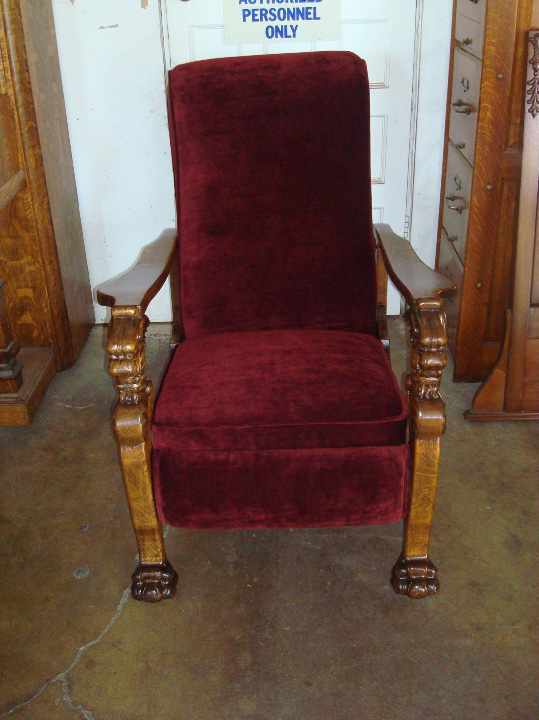 Morris chair refinish and upholstering after