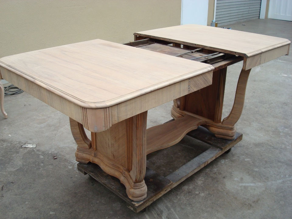 OC Dining table refinishing and staining before