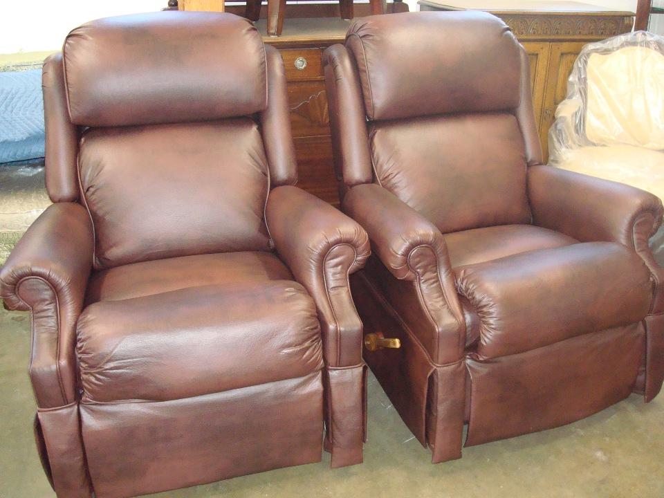 Orange County Lazy boy leather refinishing after