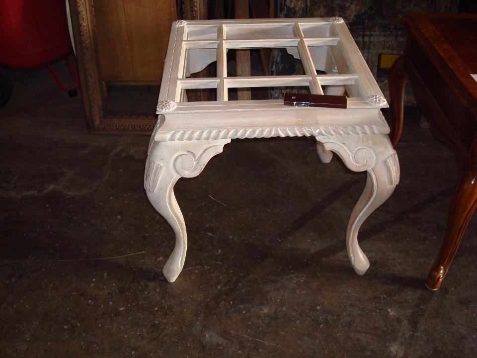refinish custom coffee table before